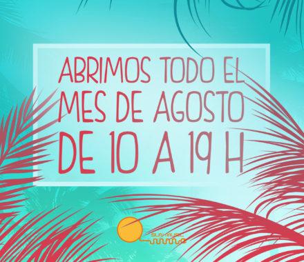 HORARIO DE AGOSTO - Sun Music | Centros bronceado | Solarium | Rayos UVA Madrid Centro